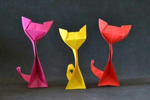 Origami de Gato-Faça você mesmo
