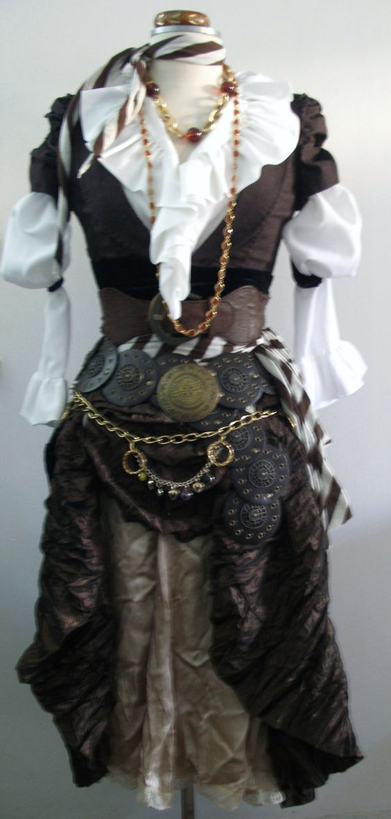 Women's Pirate Costume in Brown Upcycled / by PassionFlowerVintage