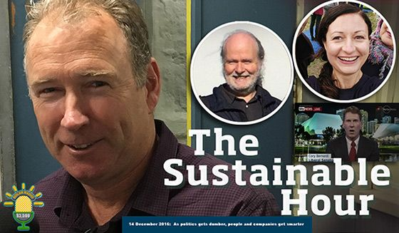 "The Sustainable Hour on 14 December 2016 looks at the rising electricity and water prices, an example of superb local sustainability leadership, climate action campaigning, plus... one of the ""dumbest things"" we have heard in federal politics in recent times.…"