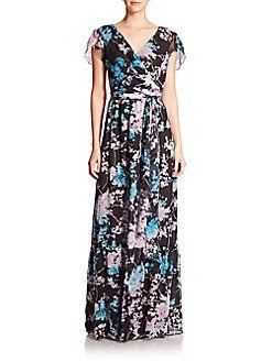 DIANE VON FURSTENBERG Melania Printed-Silk Gown. #dianevonfurstenberg #cloth #gown