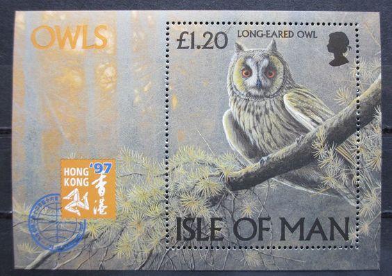Isle of Man vogels birds of prey owls sheet 1997 MNH, in Postage stamps | eBay