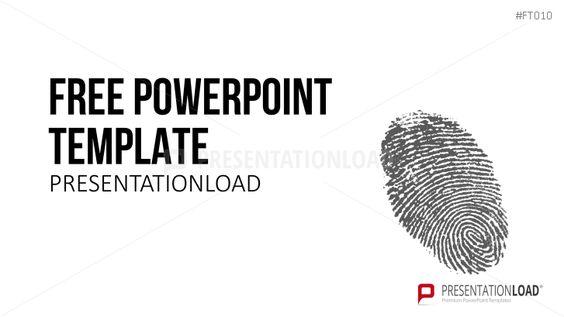 Plantilla PowerPoint gratuita - Huella dactilar
