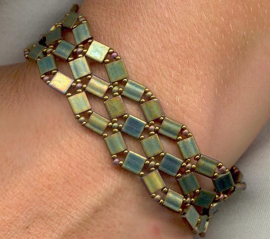 bracelet bead patterns using cube beads beadweaving