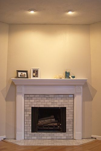 Diy Show Off Subway Tile Fireplace Fireplaces And White