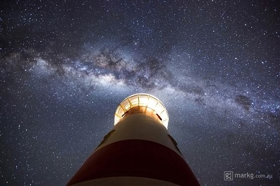 Faro de Cabo Palliser en la Isla Norte de Nueva Zelanda.