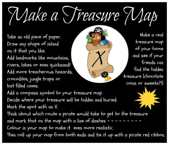 make a Pirate treasure map
