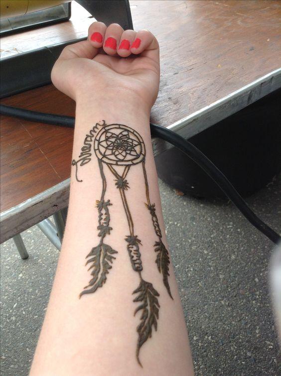 Cute Small Easy Henna Tattoo Design: Cute Henna Design!