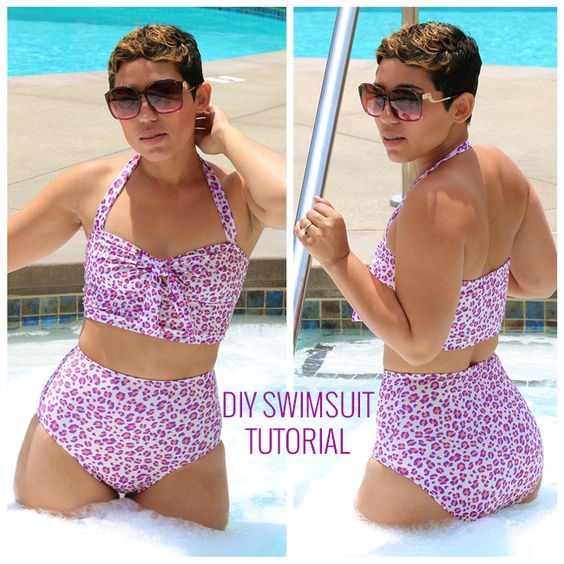 DIY Swimsuit Tutorial pattern needed Badeanzug Anleitung Schnittmuster wird benötigt