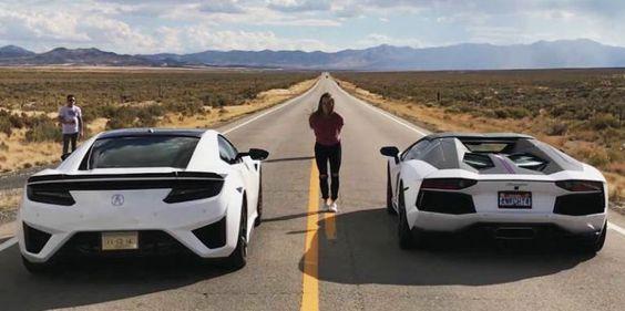 Watch an Acura Actually Stomp a Lamborghini in a Drag Race Acura