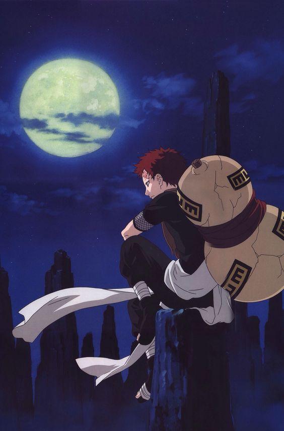綺麗な月と我愛羅