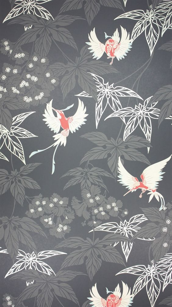 Osborne Little: W5603-07An exotically coloured hummingbird darting between foliage, named after the tropical bird garden outside Kells in County Meath. PRODUCT TYPE Wallpaper; washable.