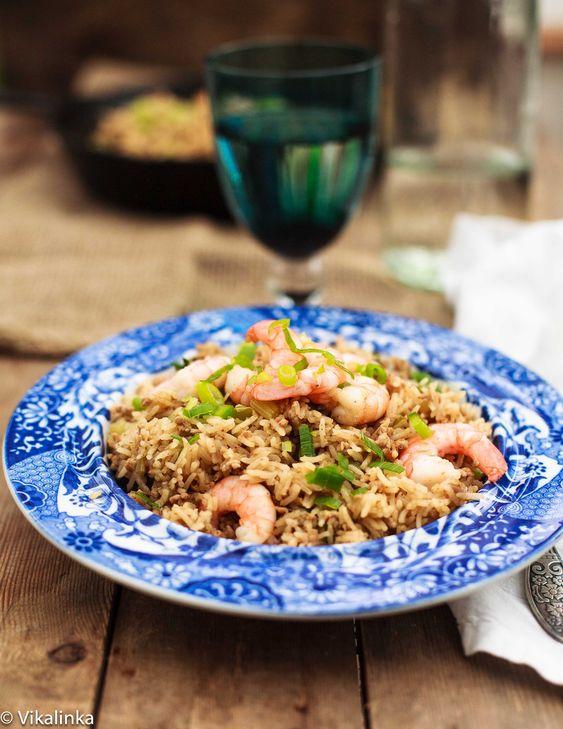 Cajun Dirty Rice with Shrimp | Vikalinka