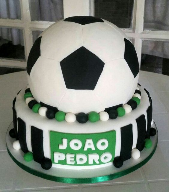 Bolo Tema Futebol! ⚽🍰🔝