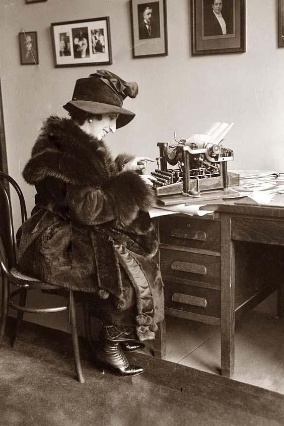 1910s Woman Typing - Love this old pic... the year my grandmother was born.