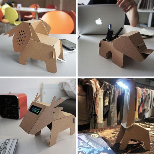 a noahs ark of cardboard home office accessories final frame cardboard office