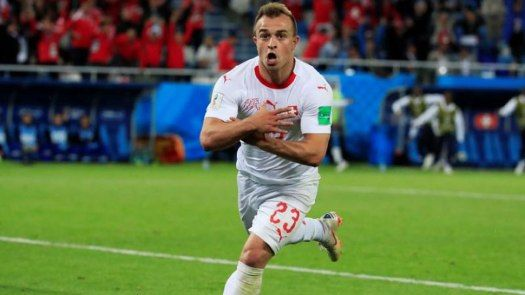 Fifa World Cup Switzerland Defeat Serbia 2 1 In Last Minute Thriller Serbia Travel Serbia World Cup