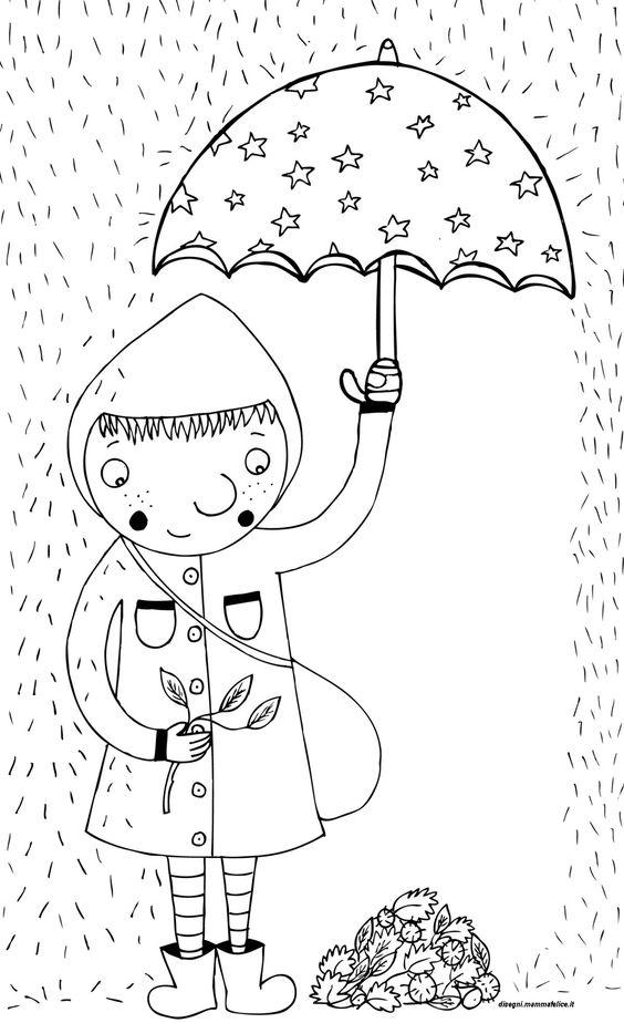 Disegni da colorare per bambini pioggia autunno disegni for Zentangle per bambini