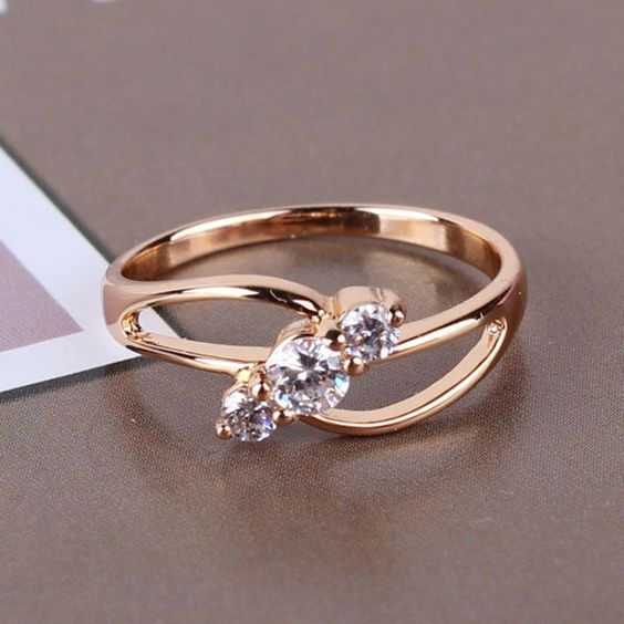 Wedding rings for women on finger