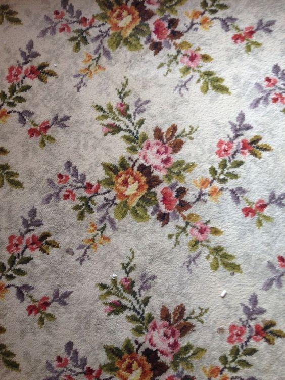 Carpets Vintage And Vintage Floral On Pinterest