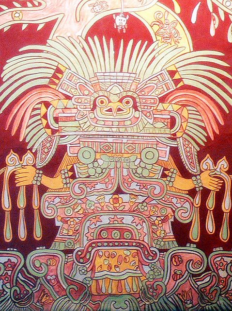The great goddess teotihuacan obviously not human what for Aztec mural painting