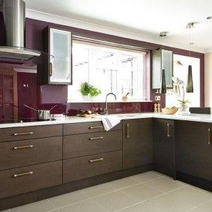 Best Think Colors Purple Backsplash White Cabinets Brown 640 x 480