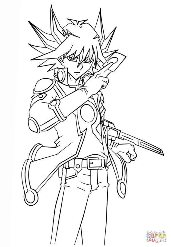 Yusei Fudo From Yu Gi Oh Free Printable Yugioh Dark Magician Coloring Pages Sailor Moon Coloring Pages Cartoon Coloring Pages Coloring Pages