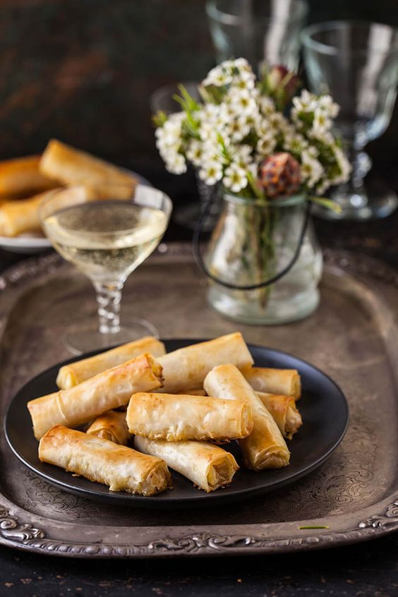 Cigars canapes and pears on pinterest for Blue cheese canape