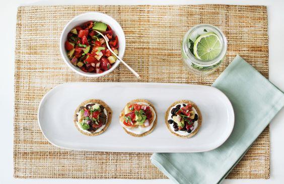 Tostadas Three Ways with Blood Orange Salsa