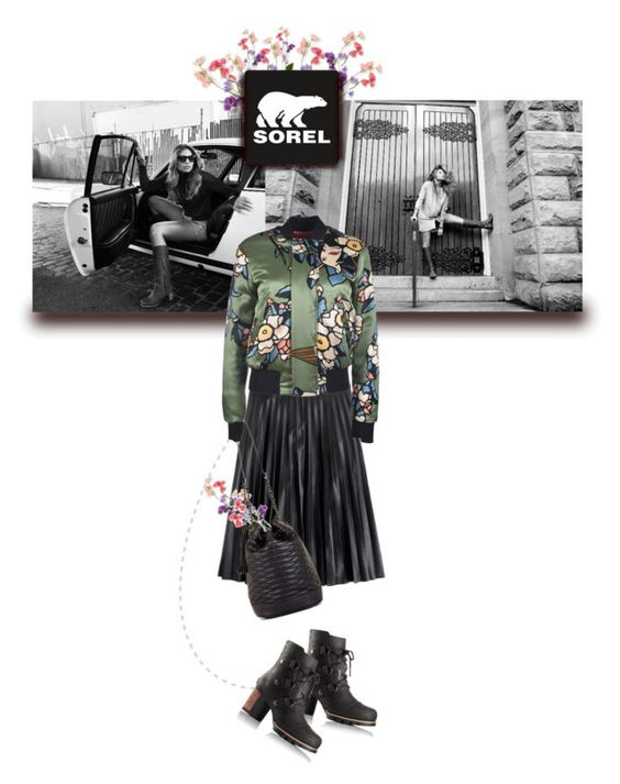 """""""sorel"""" by ozgeelfaba ❤ liked on Polyvore featuring SOREL, J.Crew, BCBGMAXAZRIA and Dsquared2"""