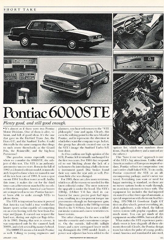 1985 6000 STE