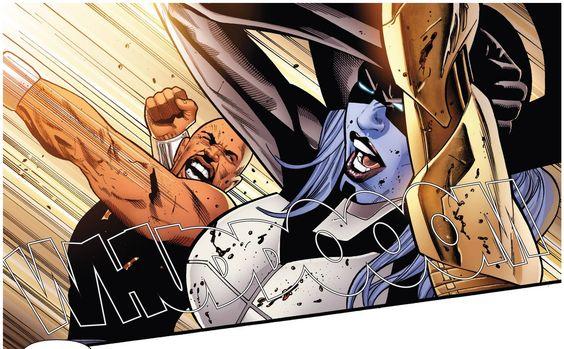 Luke Cage vs Proxima Midnight by Greg Land | Thanos ...