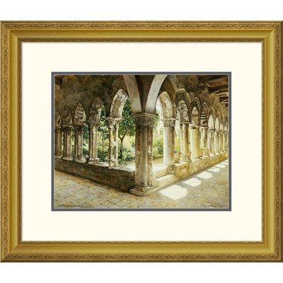 Global Gallery 'Cefalu Cloisters, Sicily' by Josef Theodor Hansen Framed Graphic Art Size:
