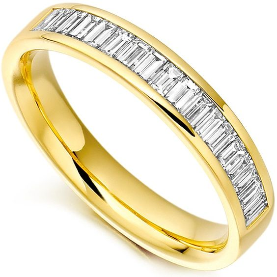 Half Eternity Ring with Baguette cut diamonds - simply gorgeous!
