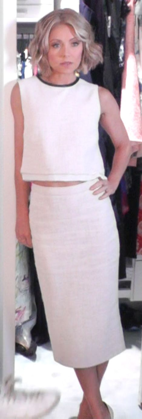 Kelly Ripa ALC crop Top and ALC pencil skirt from Intermix