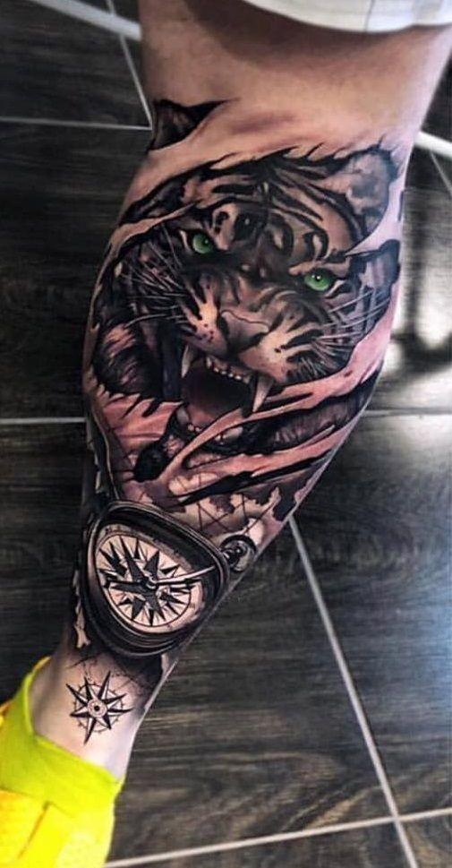 20 Fotos De Tatuagens Masculina Na Perna Tatuagens Na
