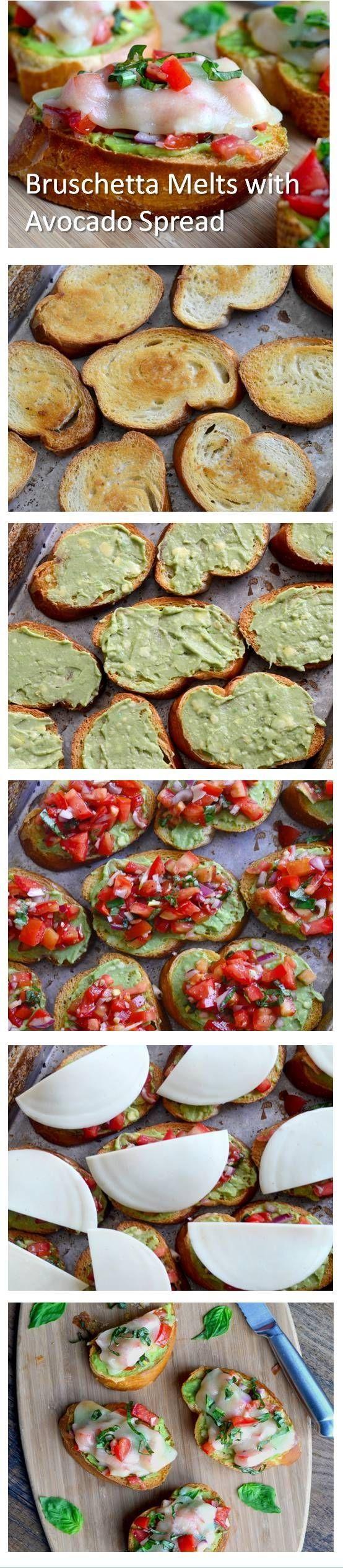 Italian Bruschetta Melts with Avocado Spread