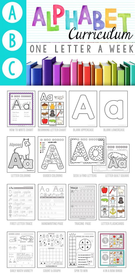 This is a picture of Declarative Letter of the Week Printables