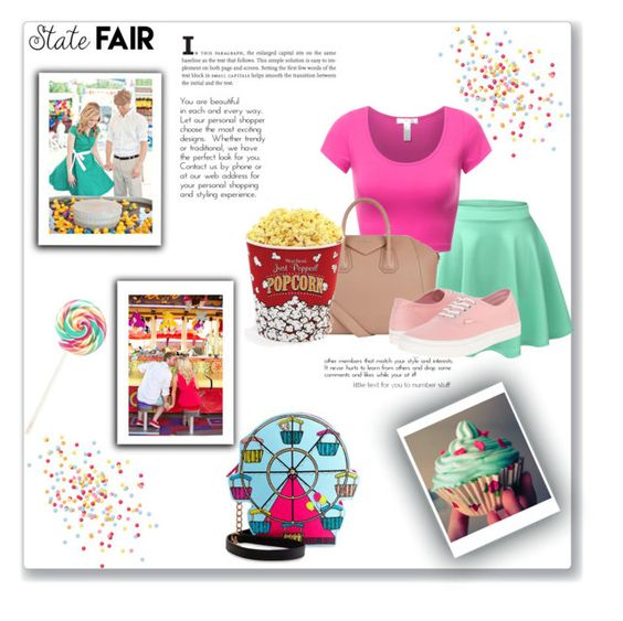 """""""State Fair"""" by da-best78 ❤ liked on Polyvore featuring Betsey Johnson, LE3NO, Givenchy, Vans, West Bend, Summer, DateNight, statefair, summerdate and summer2016"""