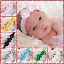 F39 10 unids/lote DIY cabritos del bebé 3 cm Satin laminado cinta de Rose flores rosetas de tela de poliéster accesorios para el cabello(China (Mainland))