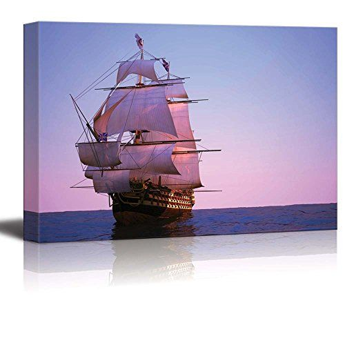 Canvas Prints Wall Art - The Ancient Ship /Tall Ship Sail... https://www.amazon.com/dp/B01GFUAYZO/ref=cm_sw_r_pi_dp_x_cAf-xbAFXACJW