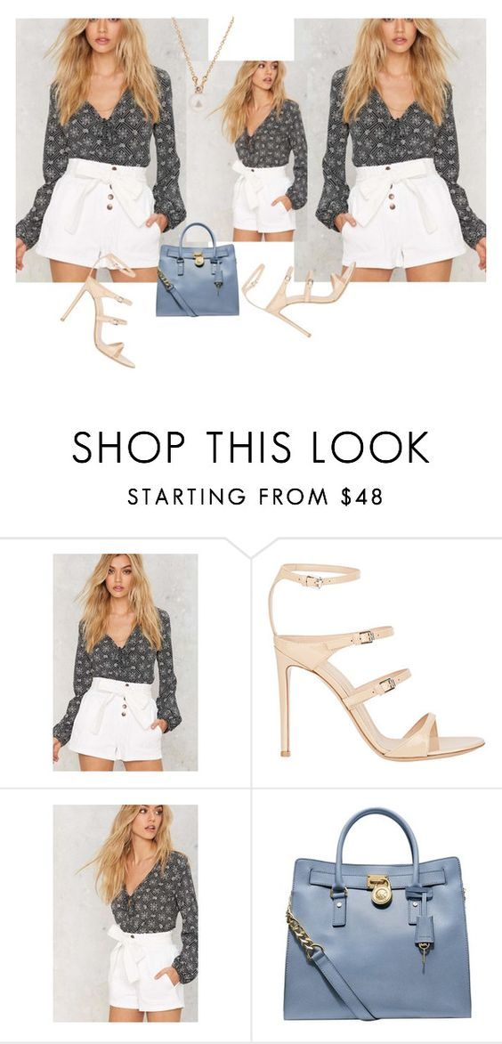 """""""Faire Consolider"""" by lovedarcie ❤ liked on Polyvore featuring Gianvito Rossi, Michael Kors and Tiffany & Co."""