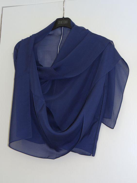 Foulard azul índigo