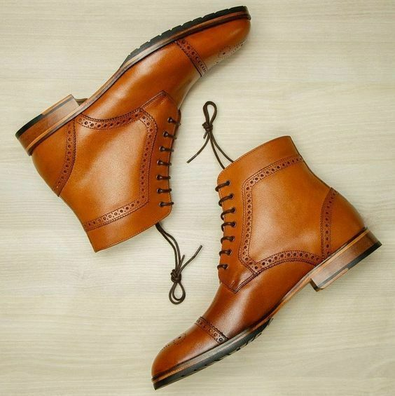 MENS NEW HANDMADE LEATHER SHOES WINGTIP CHELSEA BROGUE FORMAL SHOES