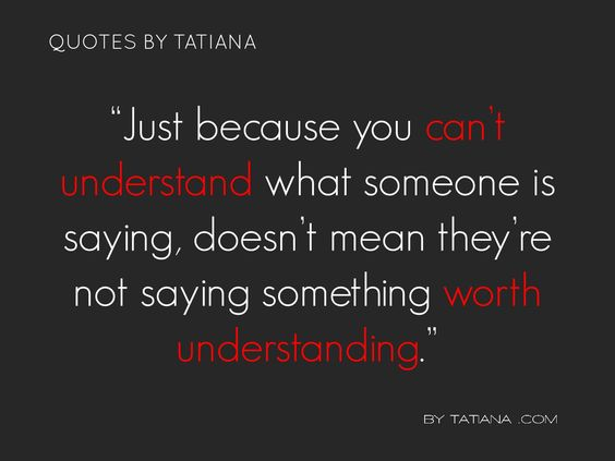 What does it mean for someone to 'understand' something?