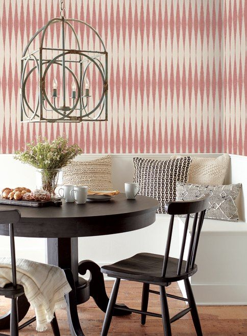 York Wallcoverings Me1542 Magnolia Home Vol Ii Handloom Pompian Red Magnolia Homes Wall Coverings Peel And Stick Wallpaper