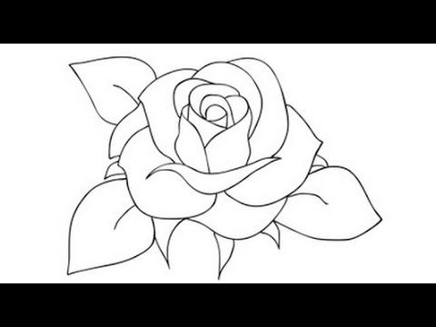 How To Draw A Rose Step By Step Video Drawing Roses For Beginners Draw A Rose For Kids Youtube Rose Drawing Simple Drawing Lessons For Kids Roses Drawing