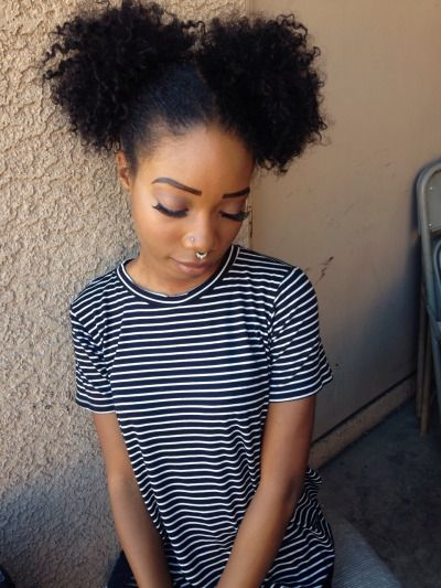Amazing Afro Puff Big Afro And Afro On Pinterest Hairstyles For Women Draintrainus