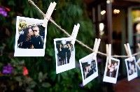 DIY Wedding Decorations - Clothesline with photos