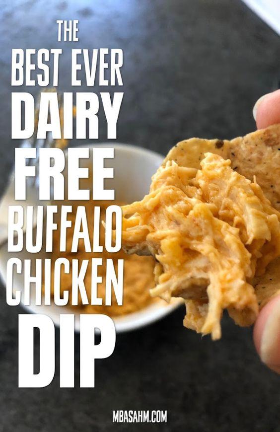The Best Dairy Free Buffalo Chicken Dip