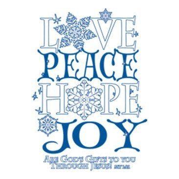Love Peace Hope Joy Item# C038 by Mychristianshirts on Etsy
